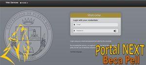 Foto de la pantalla de entrada del Portal NEXT