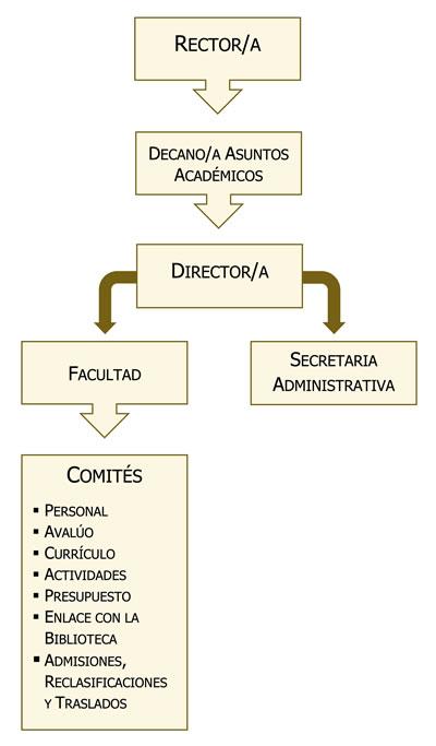 Organización Administrativa del departamento de humanidades