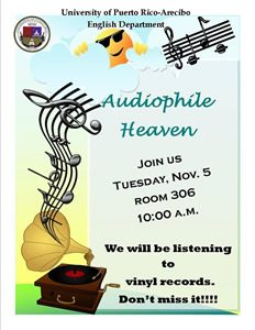 Flyer for audiophile heaven