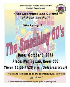 Flyer of the smashing 60's