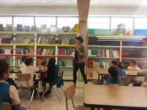 Story telling in Escuela Elemental Julio Seijo in Arecibo (Community service)