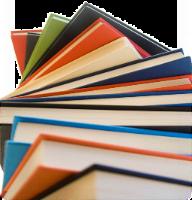 Una columna de libros