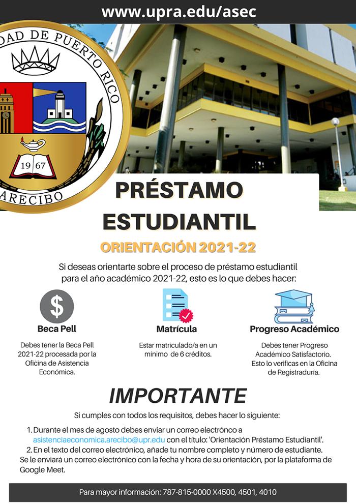 Promoción de Préstamos Estudiantiles 2021-2022